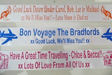 Bon Voyage / Good Luck Personalised Banner